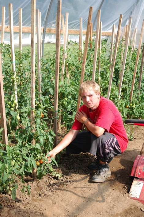 Kyle Gangell in the Gideon's Garden.