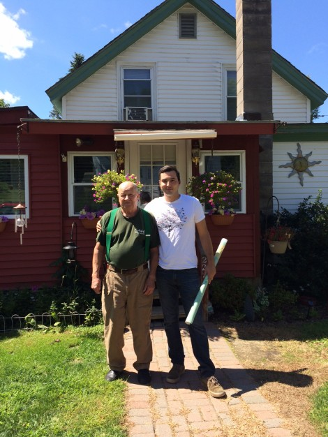 Long-time Housatonic resident Sonny Tarnawa and Ethan Culleton. Photo: Heather Bellow