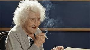 Jeanne Calment, smoking.