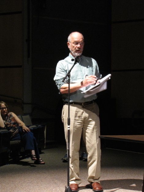 Environmental consultant Peter deFur, testifying before the EPA hearing in June during the 'Rest of the River'  announcement in Lenox.