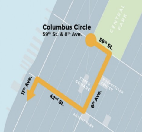 The route of the September 21 Peoples Climate March.