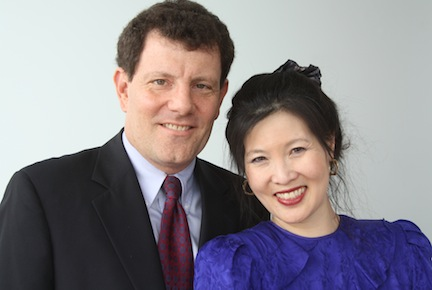 Kristof with his wife Sheryl WuDunn.