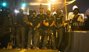 Police in Ferguson, MIssouri.