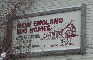 Log Homes sign