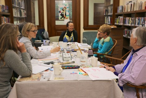 A Powder Keg session in the Ramsdell Library last May.