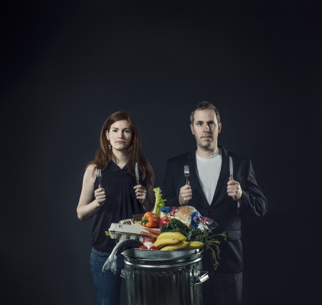 """Just Eat It' filmmakers Jen Rustemeyer and Grant Baldwin. The film will be shown at the Mahaiwe Theatre on April 11."