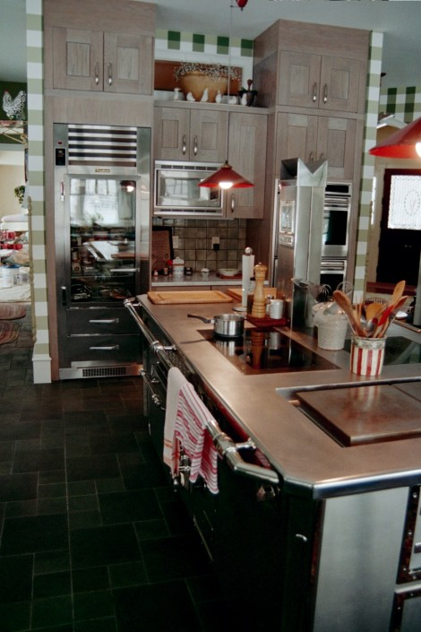 The Bonnet kitchen island with a Traulson fridge.