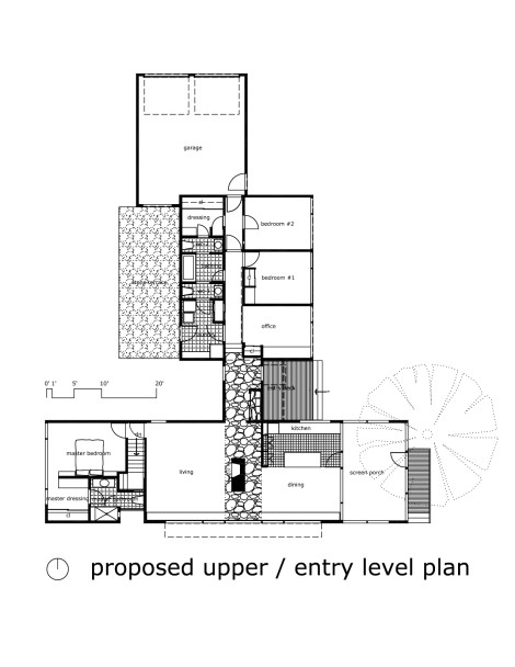 Transformations the resurrection of a modern house in for Level entry house plans