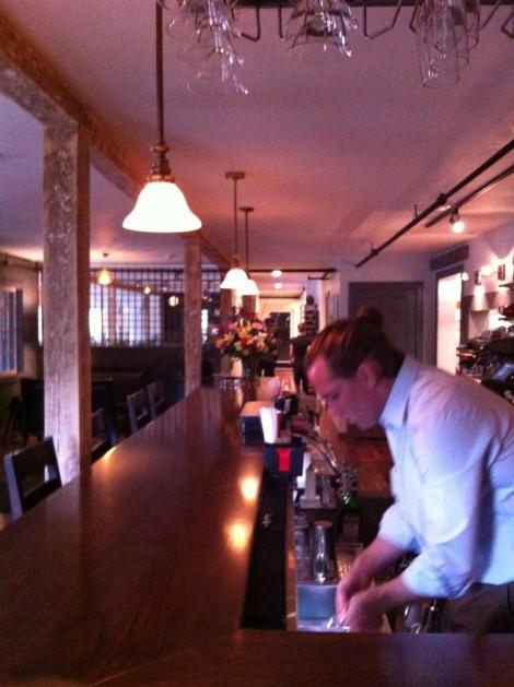 The bar at Cafe Adam.