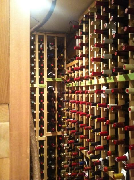 The Cafe Adam wine cellar.