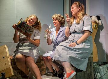 Kate Duff Snyder, Nellie Rustick, and Elizabeth Corey as the chorus in 'Little Shop of Horrors.' Photo: Daniel Region