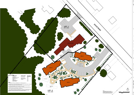 A site map for the Forest Springs affordable housing development on State Road.