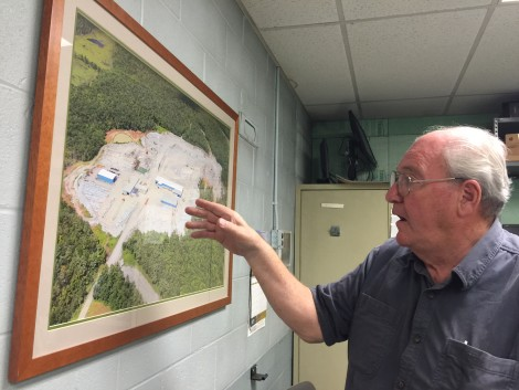 Ed Williams, of Williams Stone, on whose property the town's new wind turbine would be located. Photo: Heather Bellow