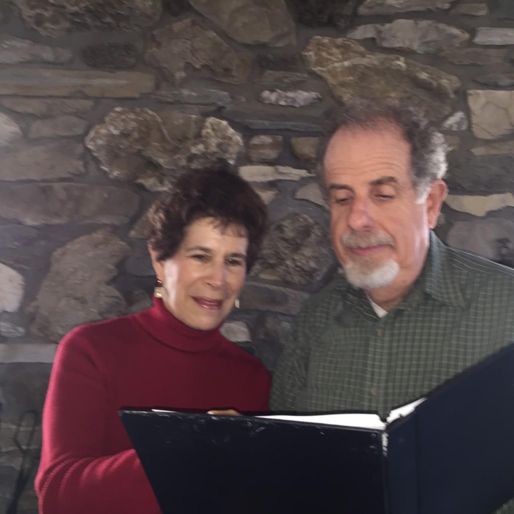 Author Jesse Waldinger with director Barbara Waldinger.