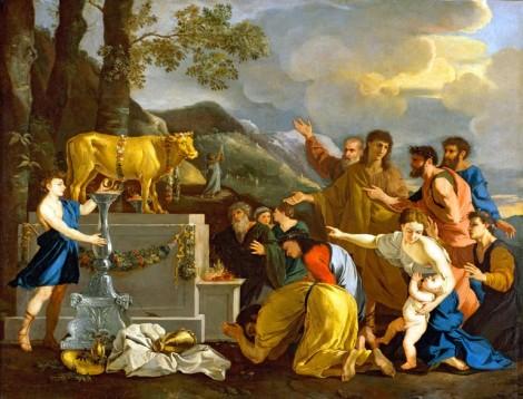 The Israelites worship the Golden Calf.