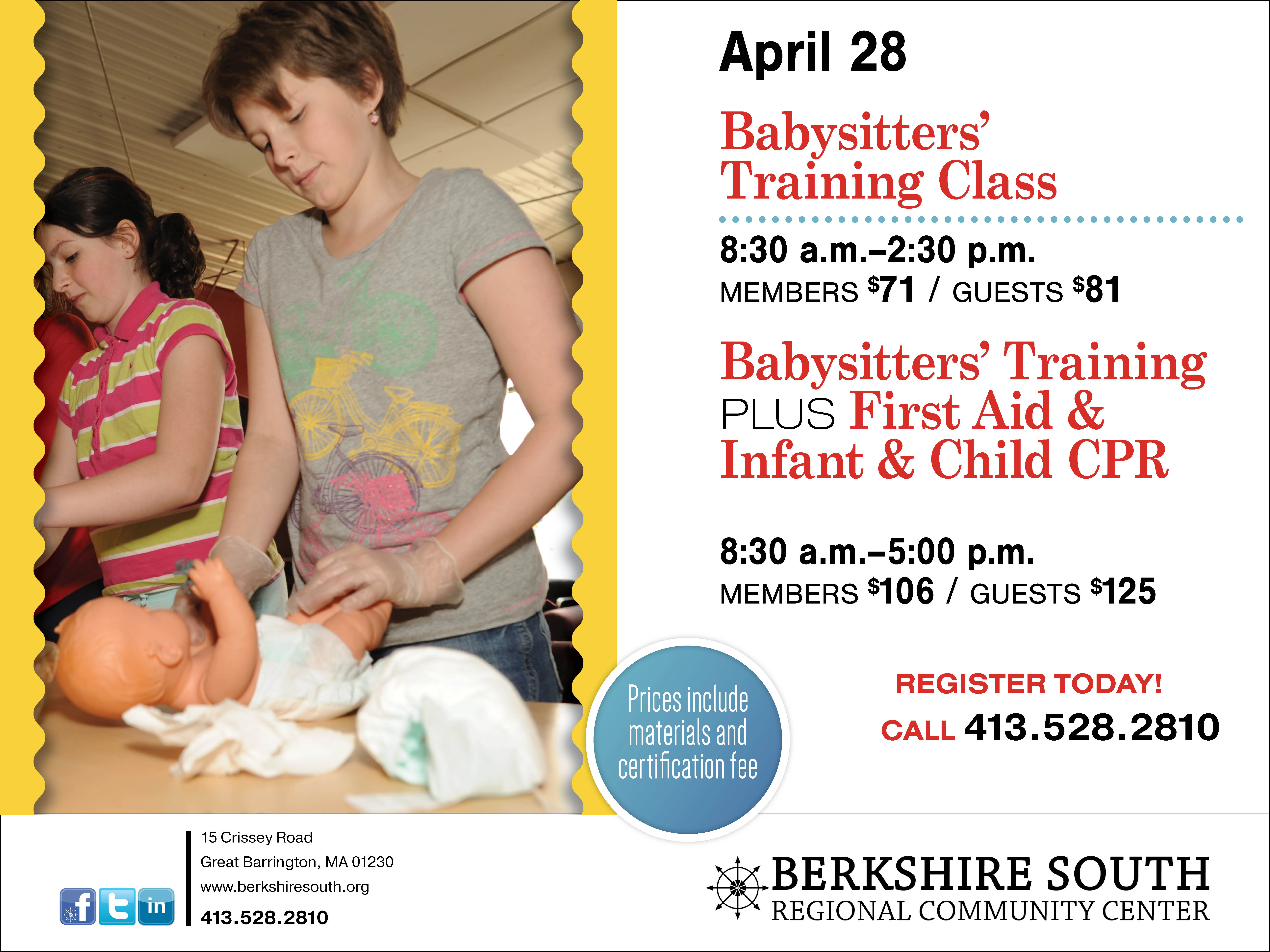 American Red Cross Babysitters' Training Class