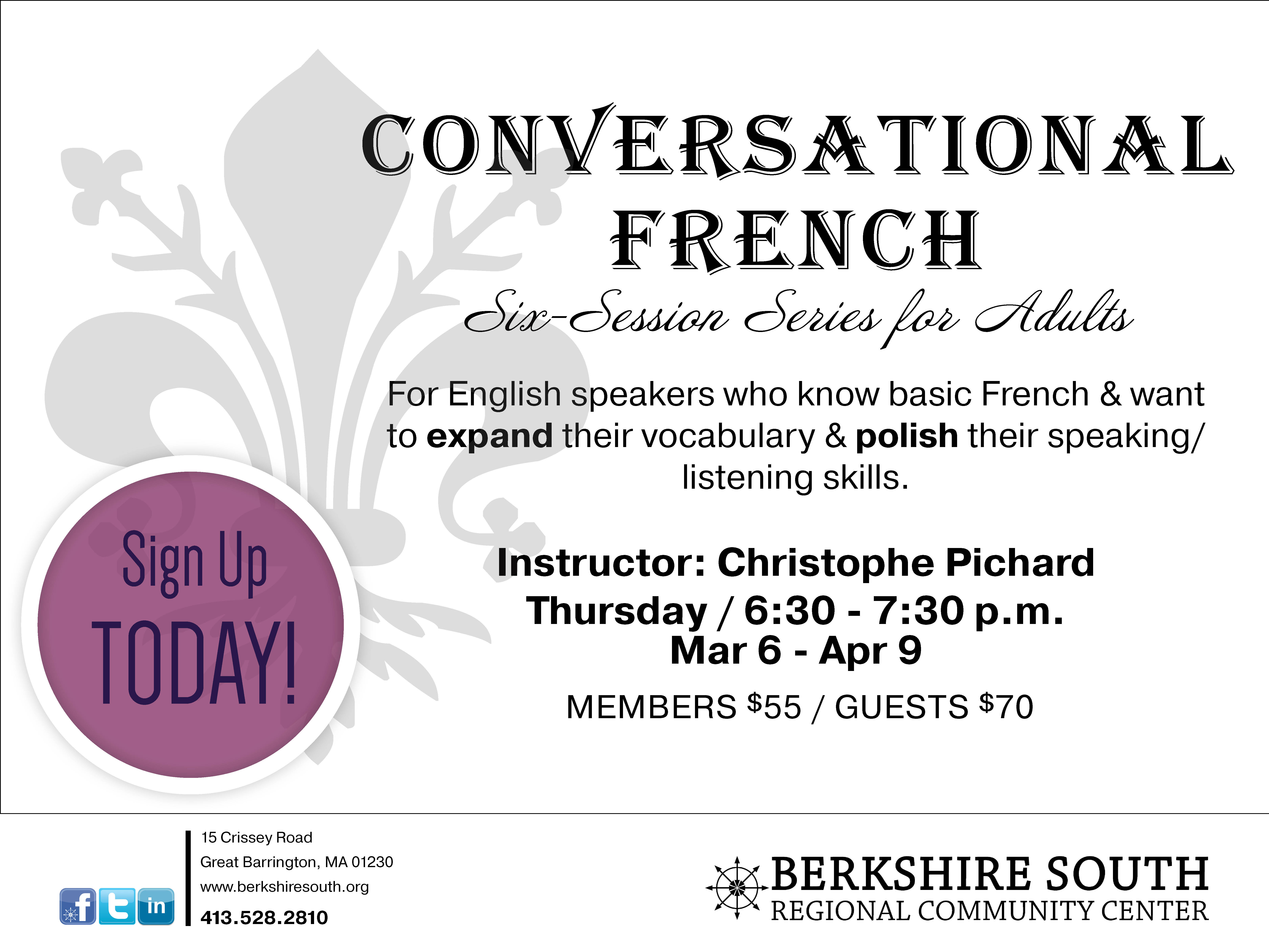 Conversational and Advanced Conversational French Courses