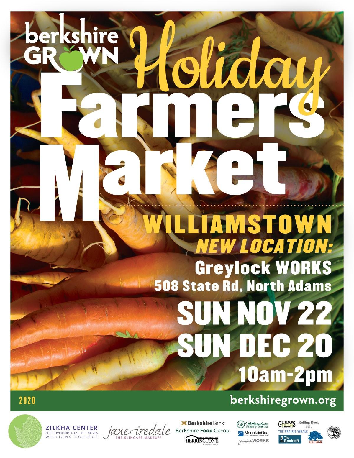 Berkshire Grown Williamstown Holiday Farmers Markets