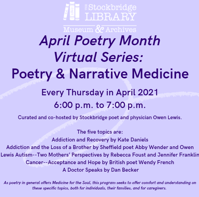 Virtual Narrative Medicine and Poetry Series