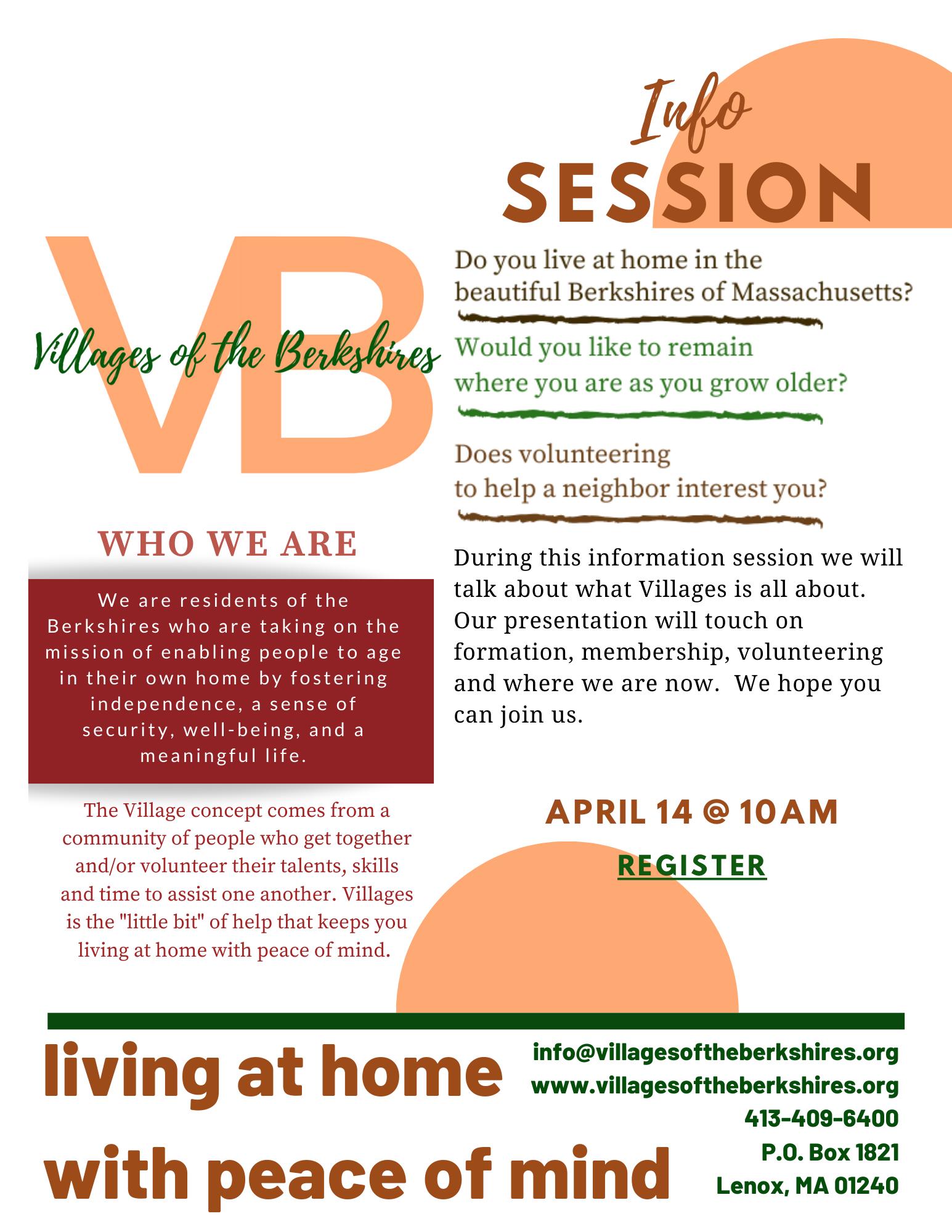 Villages of the Berkshires, Inc.  General Information Session