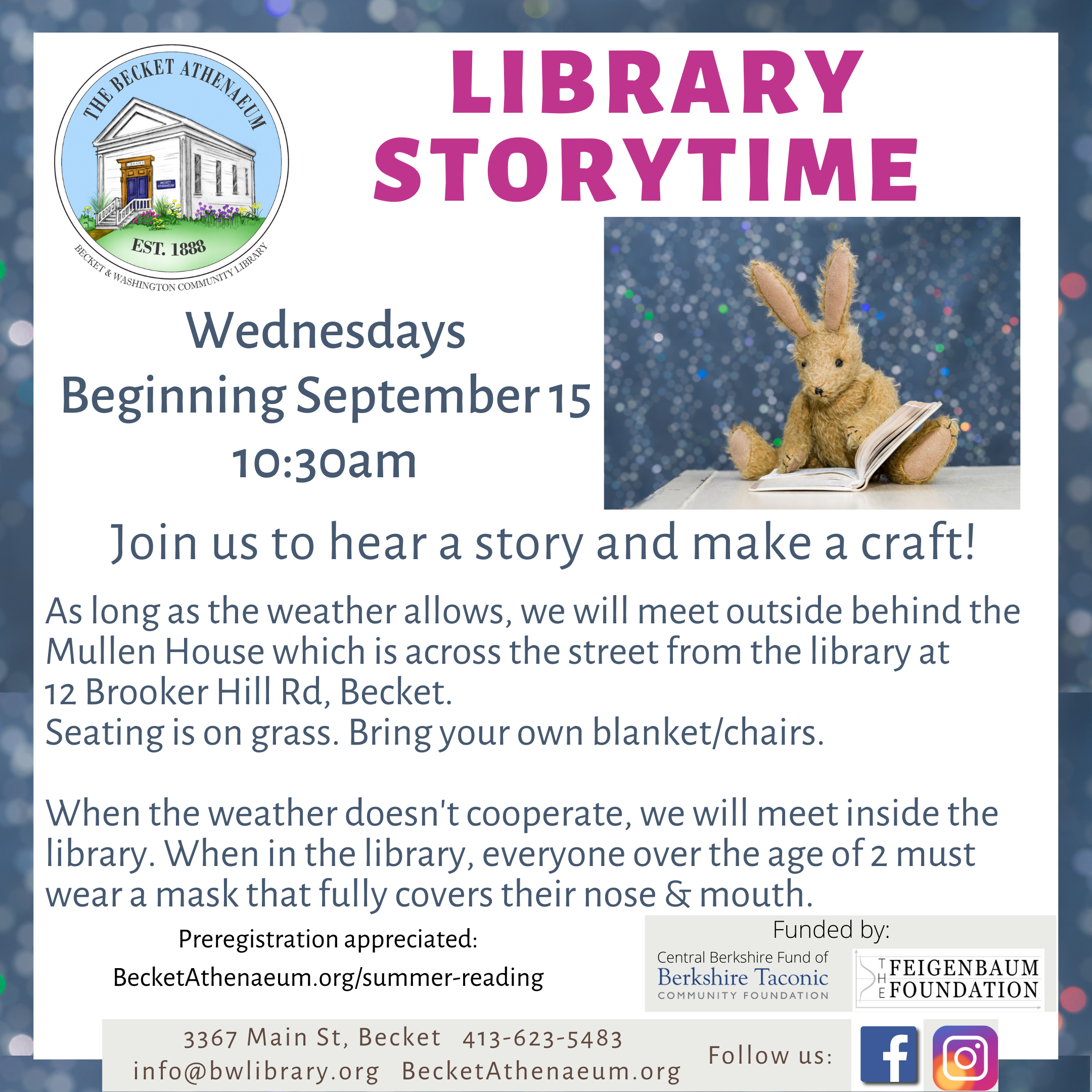 Becket Athenaeum Weekly Storytime with Crafts
